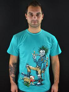 Evil Clown modré pánské tričko