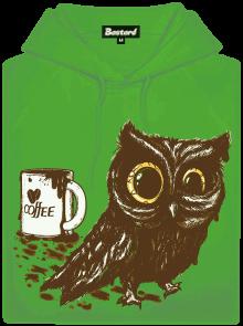 Sova na kofeinu pánská mikina