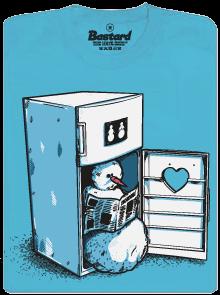 Lednice modré pánské tričko