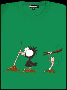 Nesprávný konec zelené dámské tričko