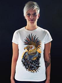 Punk Eagle bílé dámské tričko
