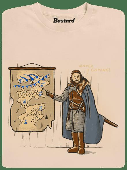 1508996c5539 Winter is Coming hnědé pánské tričko - Trička s potiskem