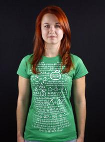 Matematik zelené dámské tričko - Trička s potiskem 6c6f828dd0