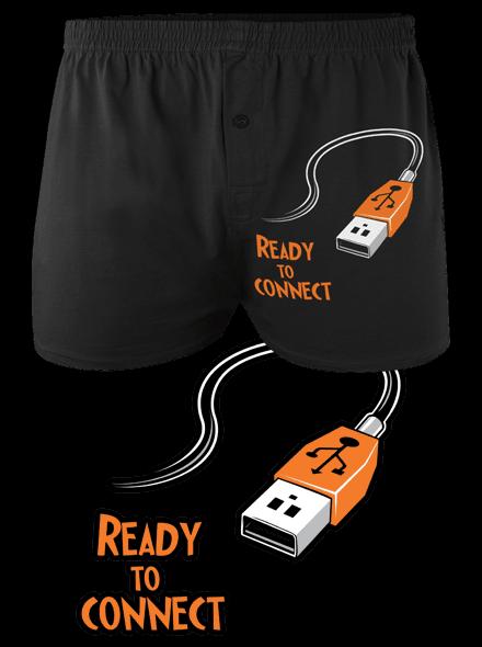 a9afc641de5 USB připojení - černé pánské trenky - Trička s potiskem