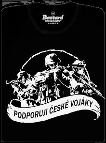 Podporuji vojáky černé pánské tričko
