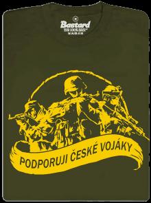 Podporuji vojáky khaki pánské tričko