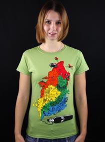Color Smoke zelené dámské tričko