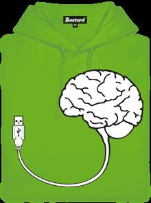 USB mozek pánská mikina