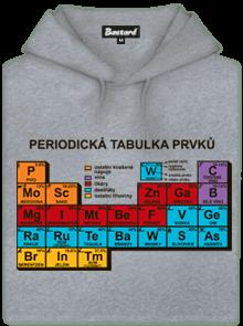Periodická tabulka šedá pánská mikina