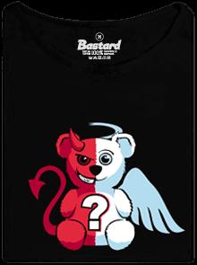 Anděl vs. ďábel černé dámské tričko