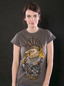 Punk Eagle šedé dámské tričko