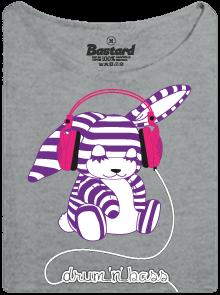 Drum'n'bass šedé dámské tričko