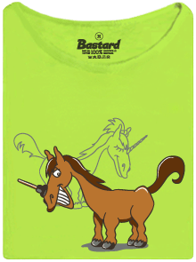 Jednorožec limetkové dámské tričko