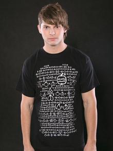 Matematik černé pánské tričko
