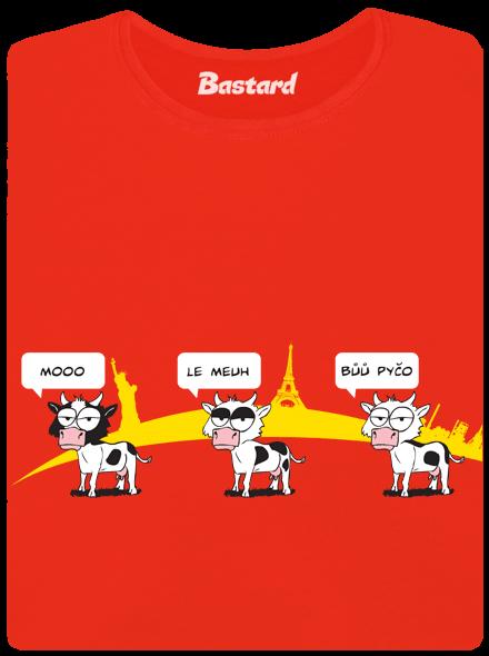 Ostravačka červené dámské tričko