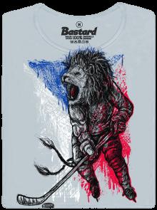 Hokejový lev šedé dámské tričko