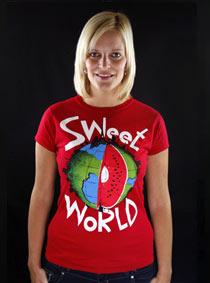 Sweet World červené dámské tričko