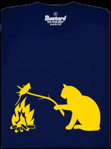 Kočka a myš modré dětské tričko