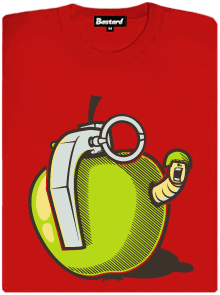 Granátové jablko červené dámské tričko