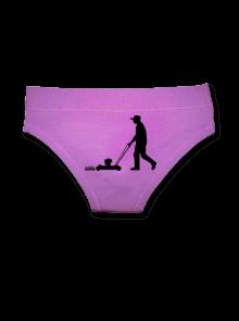 Sekačka - fialové kalhotky