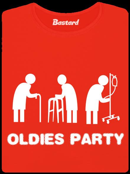 Oldies party červené lodičkové dámské tričko