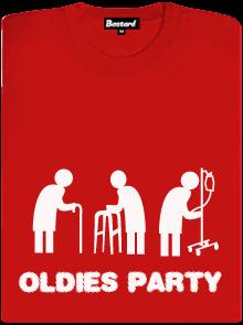 Oldies party červené klasické dámské tričko