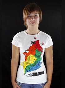 Color Smoke bílé dámské tričko