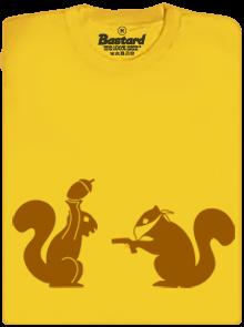 Veverky žluté dětské tričko