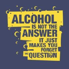 Alcohol Is Not the Answer pánské tričko