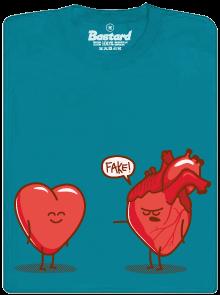 Srdeční záležitost modré pánské tričko