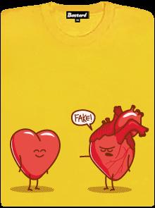 Srdeční záležitost žluté dámské tričko