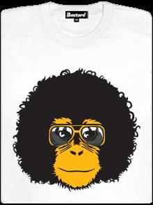 Retro opičák bílé dámské tričko