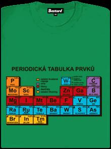 Periodická tabulka zelené dámské tričko