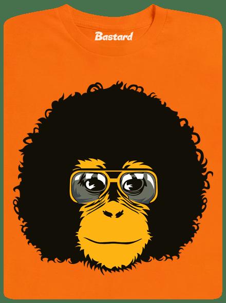Retro opičák oranžové pánské tričko