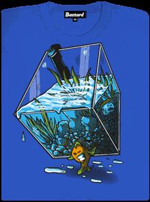 Migrující rybka modré dámské tričko