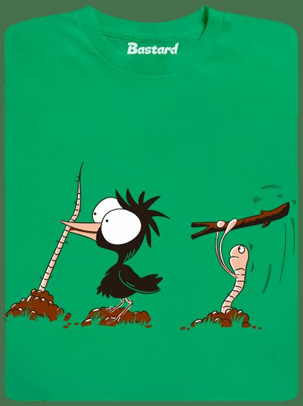 Nesprávný konec zelené pánské tričko