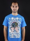 Moucha modré pánské tričko