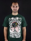 Moucha zelené pánské tričko