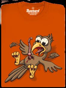 Žížalovetřelec oranžové pánské tričko
