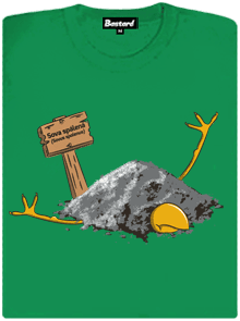 Sova spálená zelené dámské tričko