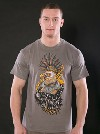 Punk Eagle šedé pánské tričko