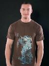 Nature vs. Technology hnědé pánské tričko