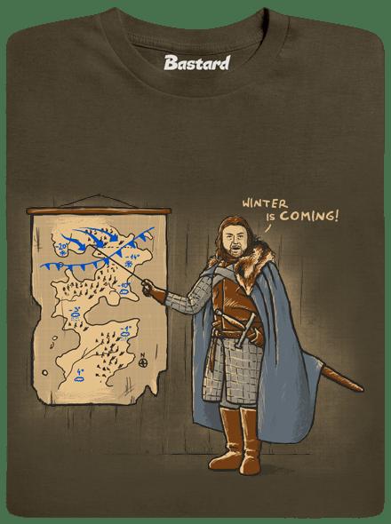 Winter is Coming zelené pánské tričko