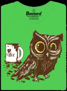 Sova na kofeinu dámské tričko