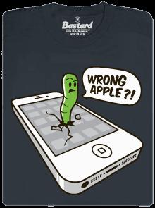 Wrong Apple šedé pánské tričko