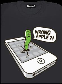 Wrong Apple šedé dámské tričko