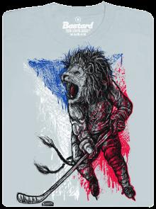 Hokejový lev šedé pánské tričko