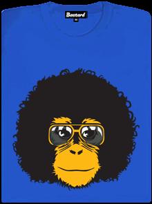 Retro opičák modré dámské tričko