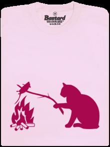 Kočka a myš růžové dětské tričko