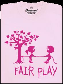 Fair play růžové dětské tričko